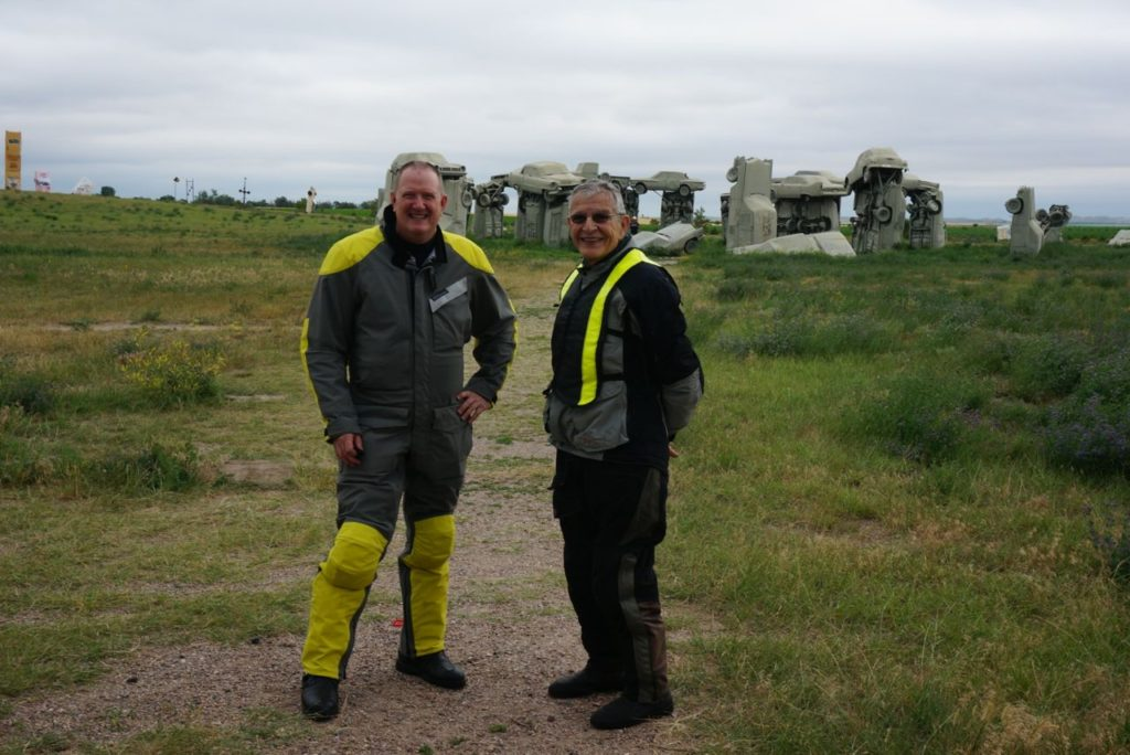 Dom and Dallas at Carhenge